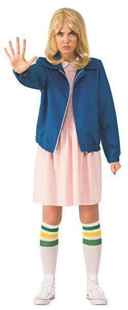 Rubini Stranger Things Elevens Blu Giacca Donne Adulte Costume Halloween 700040