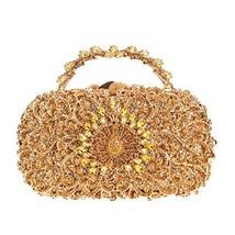 Fawziya Peacock Metal Handle Clutch Purses For Women Evening Bags-Smoky ... - $70.47