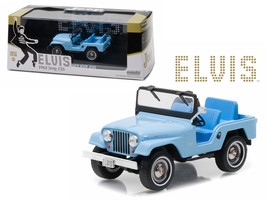 1963 Jeep CJ5 Sierra Blue Elvis Presley (1935-1977) 1/43 Diecast Model Car by Gr - $32.19