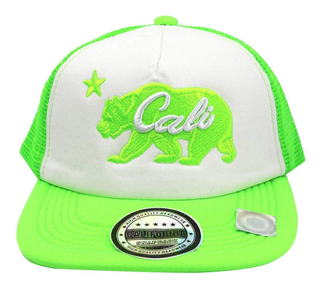 NEW UNISEX BASEBALL HAT CAP ADJUSTABLE SNAPBACK SWAG CALI BEAR GREEN ONE SIZE