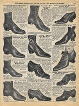 Shoes Ladies Boots Lace-up Shoes Sears 1902 Catalog Ad Footwear  - $15.99