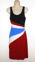 Ralph Lauren Dress M 8 10 Jersey Knit Blue Red White Black Sleeveless Pa... - $17.99