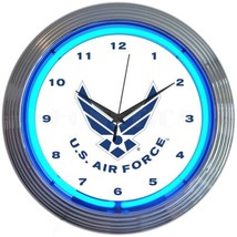 "USAF Air Force Veteran Pilot Approved by USAF Wall Light 15"" Neon Clock - $69.00"