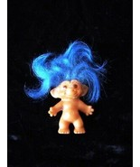 Troll Vintage Doll Blue Hair Uneeda Wishnik - $26.99