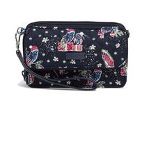 Vera Bradley Iconic RFID All In One Crossbody Bag, Holiday Owls