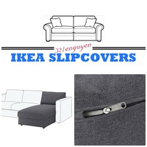 IKEA NORSBORG Loveseat with Armrest Slipcover Cover Edum Beige Discontinued