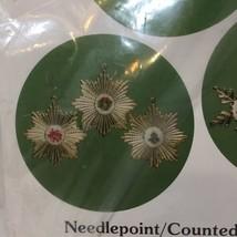Medallion Christmas Ornaments Mary Maxim Needlepoint Cross Stitch - $9.74