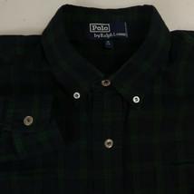 VINTAGE Polo Ralph Lauren Button Up Shirt Mens M Long Sleeve Blue Green ... - $22.95