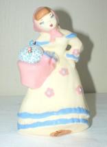 California Pottery Vase Weil Ware Figurine Flower Planter Pin Cushion Vi... - $22.76