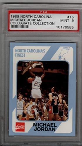 Primary image for Michael Jordan 1989 North Carolina #15 Collegiate Collection PSA 9 MINT
