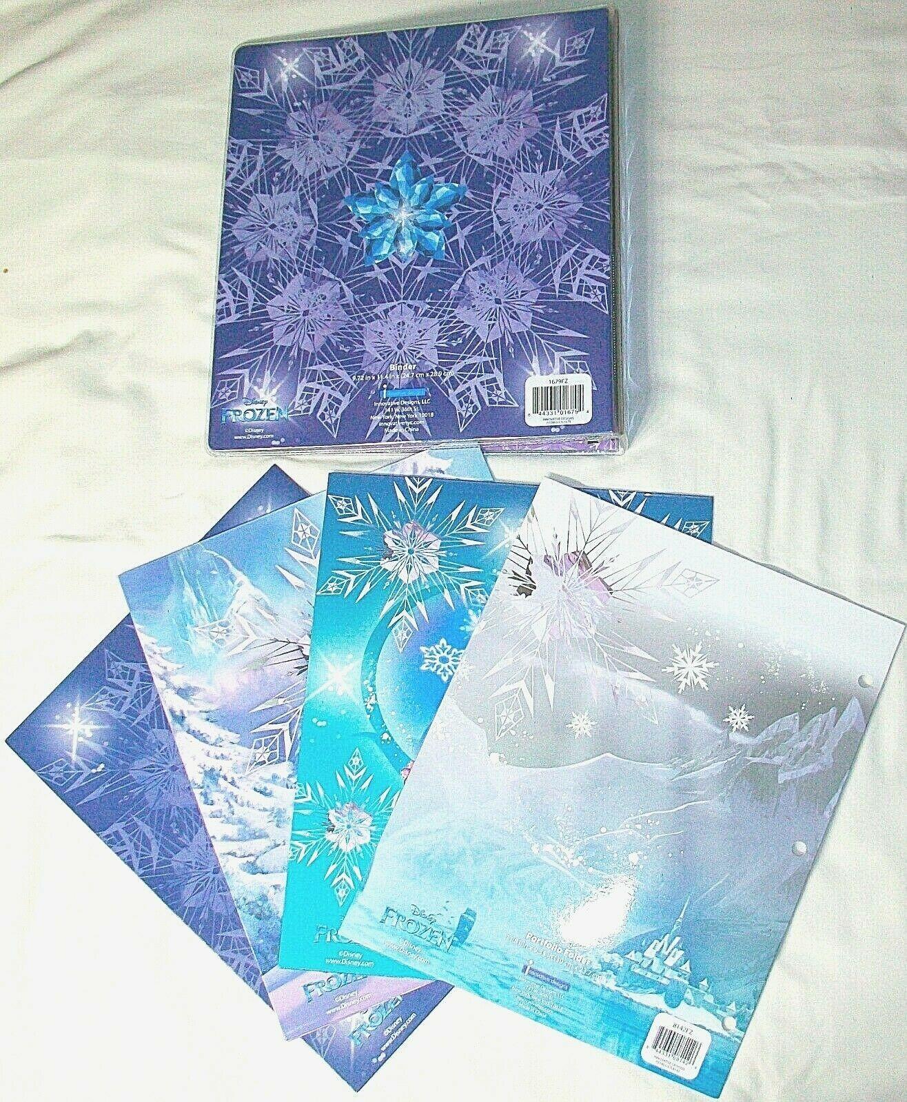 "Disney Frozen Elsa 1"" 3-Ring Binder & 4 Portfolio 2 Pocket"