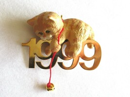 Hallmark Keepsake Ornament Fabulous Decade 1999 Cat Kitten Bell 10th In ... - $9.99