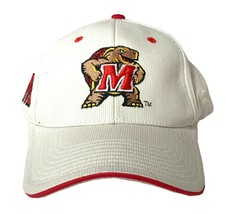 University of Maryland Terrapins UMD NCAA Embroidered Cream Buckle Back Hat - $17.99