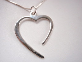 Receptive Open Heart Necklace 925 Sterling Silv... - $17.81