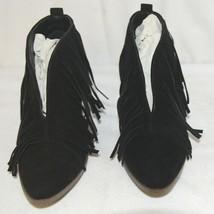 Beast Fashion Carrie 01 Black Fringe Slip On Shoes Size 6 And Half image 2