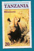 Mint Tanzania Postage Stamp (1986) Rhinoceros Scott Cat#321 - $1.99