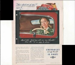 Chevrolet Motor Division Easy To Drive Car 1948 Vintage Antique Advertis... - $1.50