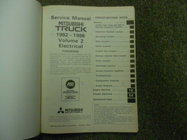 1992 1996 MITSUBISHI TRUCK Service Reoair Shop Manual VOLUME 2 FACTORY OEM 92 96 image 2