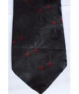 """Wembley Men's Neck Tie Black Red 56.5"""" Long 3.75"""" Wide Necktie - $19.79"""