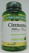Nature's Bounty Herbal Health Cinnamon + Chromium Capsules, 2000mg 2 Pack  - $23.75