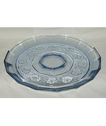 Anchor Hocking Avalon Pattern Blue Chip & Dip Platter Only - $12.82