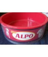 Disney's 102 Dalmatians Movie ALPO Dog Dish Red Plastic Rubber Feet on B... - $19.75