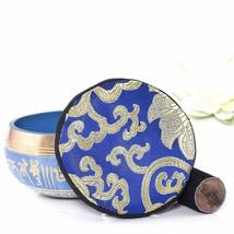 Tibetan Singing Bowl, Design Of Himalaya With Encumbered Drumming Grip 3... - $199.00