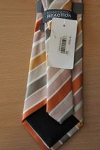 Kenneth Cole Reaction Men's Tie Orange Multi Prince Stripe Classic Necktie  image 4