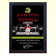 poster Ayrton Senna signed autographed Formula 1 McLaren Honda Framed - $19.27