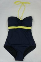 Tommy Hilfiger One Piece Sz 6 Loop Tie Swimsuit Navy Blue Cinched Front - $39.53