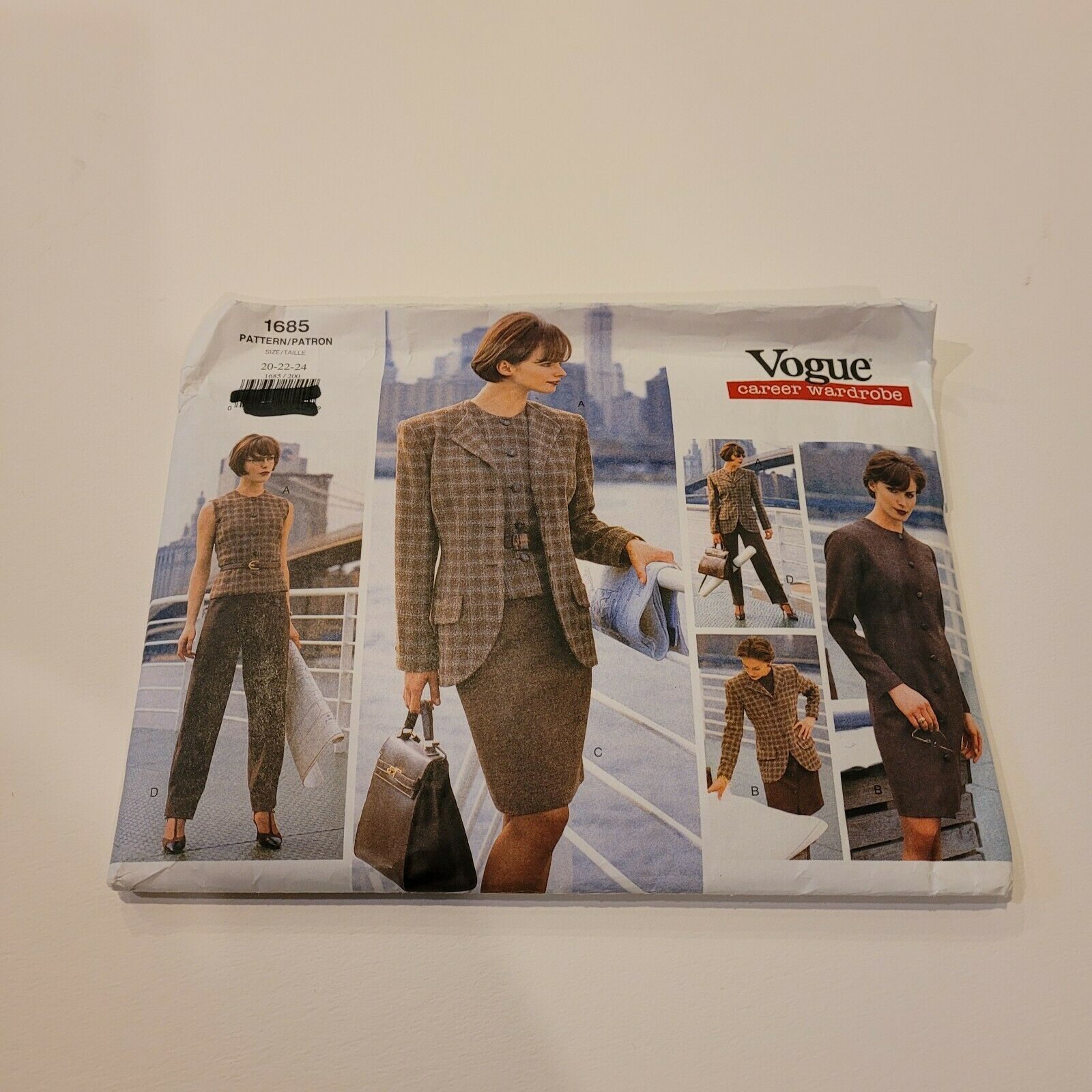 Primary image for 1685 Vogue Sewing Pattern Misses Jacket Dress Top Skirt Pants Size 20 22 24 FF