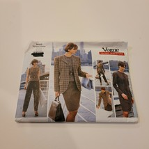 1685 Vogue Sewing Pattern Misses Jacket Dress Top Skirt Pants Size 20 22... - $11.64
