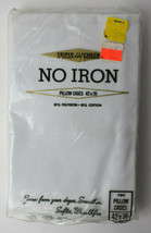 2 Vintage NOS Triple Check GC Murphy Pillowcases White Cotton Poly 42x36... - $9.90
