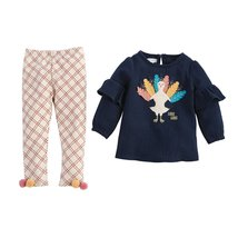 Mud Pie Girls Thanksgiving TurkeyTunic and Pant Set 3M-5T - $32.00+