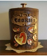 "Vintage~Treasure Craft~Cookie Jar Apple/Leaf Design ""Cookies"" Printed on... - $79.20"