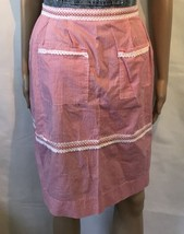 Vintage Apron Checker Pattern Farmhouse 1950s Homemaker - $33.66
