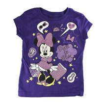 "Disney Store Girls Minnie Mouse ""Born to Shop"" Short Sleeve T-Shirt, Purple - $15.00"