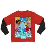Angry Bird Big Boys 8-20 Youth Space Iced Group Mock Layer LS Tee T Shirt - $9.99