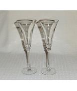 Oscar de la Renta Le Cristophe Pattern Champagne Flutes Goblets (2) - $24.39