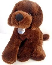 "Nintendogs Chocolate Lab Plush Puppy Dog Stuffed Pink Collar Nintendo 14"" L - $16.82"