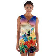 tunic top wrap dress lilo stich hawaii sunset surf club sleeveless hot s... - $36.00+