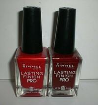 Rimmel Lasting Finish Pro Nail Polish Lot of 2 Red Colors Burgundy Stiletto - €16,05 EUR