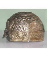 India Vintage Metal box hand forged,size diameterapprox 2.5x3.5 inches#m... - $9.17
