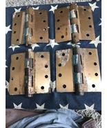 4 Vintage Lawrence Door Hinges Ball Bearing Oilet Commercial Duty Salvag... - $32.66