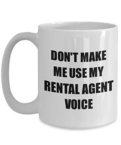 Primary image for Rental Agent Mug Coworker Gift Idea Funny Gag for Job Coffee Tea Cup 15 oz