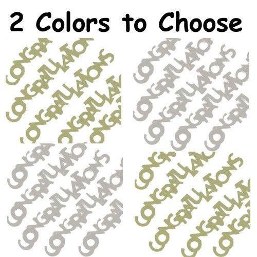 Confetti Word Congratulations - 2 Colors to Choose - $1.81 per 1/2 oz. FREE SHIP - $3.95 - $28.70