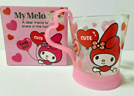 My Melody Handle glass Mug SANRIO 2012' Cute Goods Rare Pink - $43.01