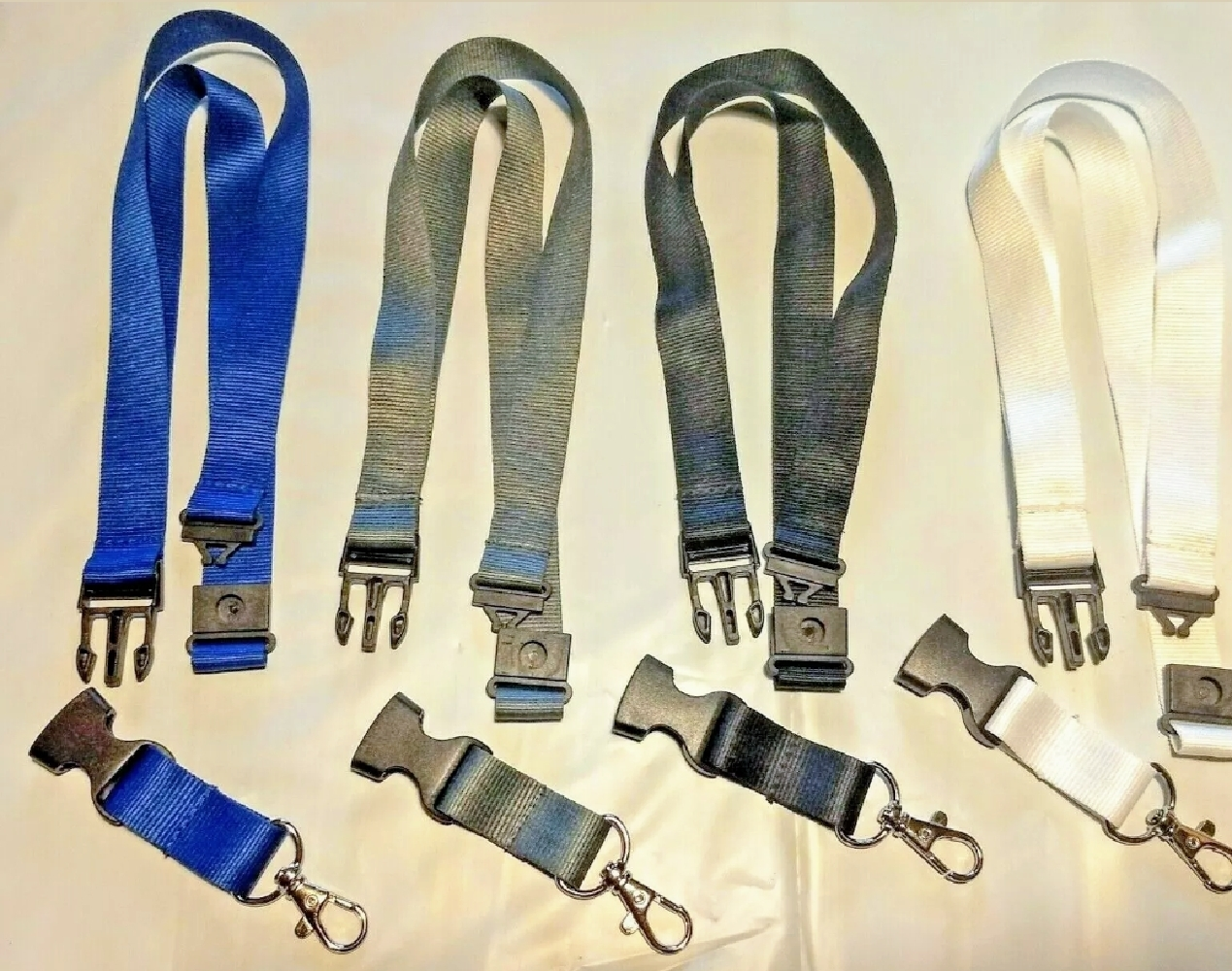 Primary image for Plain Solid Color Lanyard with Safety Breakaway & Detachable Key Chain