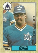 REDISCOVER TOPPS GOLD 1987 TOPPS #235 ALVIN DAVIS MARINERS FREE SHIPPING - $1.89