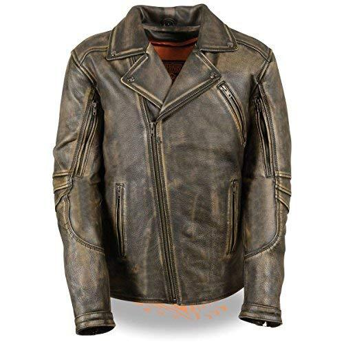 Primary image for Milwaukee Leather Mens Triple Stitch Beltless Distressed Brown Leather Jacket w